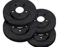 RotorPro Slotted Rotors Front and Rear w/ Black Zinc Coating 08-14 WRX