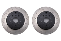 FactionFab Rear Brake Rotors Dual Drilled 5x100 / 5x114.3 Kit 2008-2014 Subaru WRX