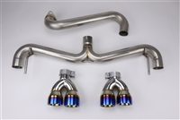 FactionFab Axle Back Exhaust w/ Burnt Tips (Hatchback) 11-14 Subaru WRX, 08-14 STi