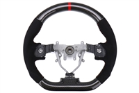 FactionFab Steering Wheel Carbon and Suede 2008-2014 Subaru WRX, STi