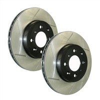 Stoptech Front Slotted Rotor Pair 09-14 WRX