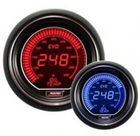 ProSport Evo Series Red/Blue Digital Oil Temperature Gauge 52mm 300 °F