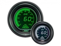 ProSport Evo Series Green/White Digital Fuel Pressure Gauge 52mm 100 PSI