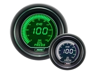 ProSport Evo Series Green/White Digital Oil Pressure Gauge 52mm 150 PSI