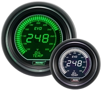 ProSport Evo Green/White Digital Oil Temperature Gauge 52mm 300 °F