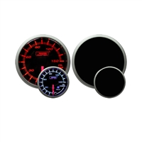 ProSport Premium Amber/White Digital Oil Pressure Gauge 52mm 150 PSI
