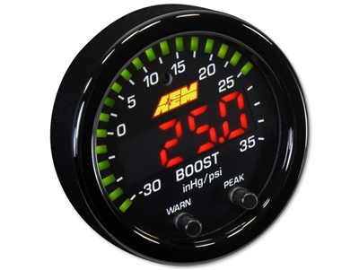 AEM X-Series 35 PSI / 2.5 BAR Boost Gauge