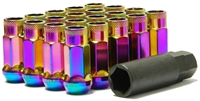 Muteki SR48 Neo Chrome Open Ended Lug Nuts M12x1.25 WRX/STI / FRS/BRZ