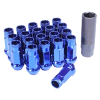 Muteki SR48 Burning Blue Chrome Open Ended Lug Nuts M12x1.25 WRX/STI / FRS/BRZ