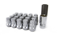 Wheel Mate Muteki SR35 Close End Lug Nuts w/ Lock Set - Silver 12x1.25 35mm