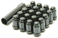 Wheel Mate Muteki Closed End Lug Nuts - Deep Black 12x1.25