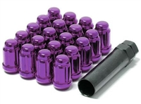 Wheel Mate Muteki Closed End Lug Nuts - Purple 12x1.25