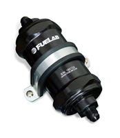 Fuelab 818 Series InLine Fuel Filter 6an Inlet / 6an Outlet Fiberglass Element - Black
