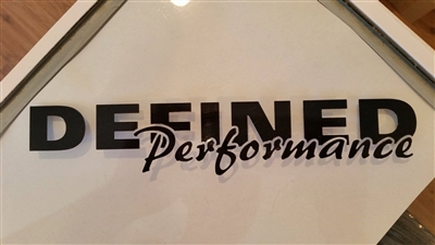 "Defined Performance Sticker 9"" Long"