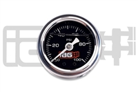 IAG 0-100 PSI Liquid Filled Fuel Pressure Gauge (BLACK FACE)