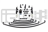 IAG PTFE Fuel System Kit W/ Lines, FPR & Black Fuel Rails for 08-14 WRX / 08-19 STI