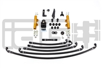 IAG PTFE Fuel System Kit W/ Lines, FPR & Gold Fuel Rails for 08-14 WRX / 08-19 STI