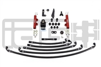 IAG PTFE Fuel System Kit W/ Lines, FPR & Red Fuel Rails for 08-14 WRX / 08-19 STI