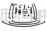 IAG PTFE Flex Fuel System Kit W/ Lines, FPR & Black Fuel Rails for 08-14 WRX / 08-19 STI