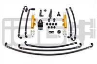 IAG PTFE Flex Fuel System Kit W/ Lines, FPR & Gold Fuel Rails for 08-14 WRX / 08-19 STI
