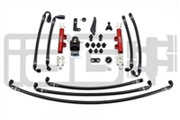 IAG PTFE Flex Fuel System Kit W/ Lines, FPR & Red Fuel Rails for 08-20 STI