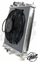 MAP Small Radiator Kit with 12' Slim Electric Fan (03 - 06 Evo 8/9)