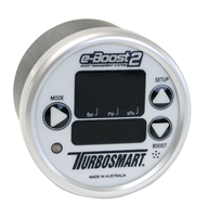 TurboSmart e-Boost2 White Silver 60mm 60 PSI