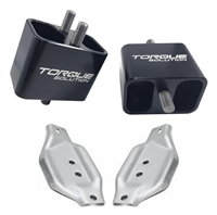Torque Solution Solid Billet Engine Mounts with Plates 02-14 WRX / 04-17 STI